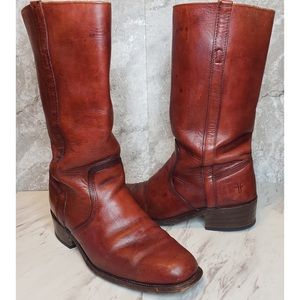 Vintage Frye Boots Riding Leather 3572 Slouchy